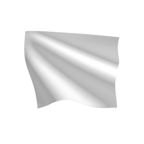 24in x 30in White Last Lap Flag