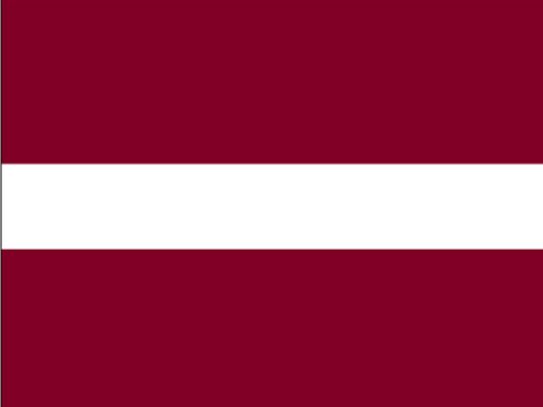4in x 6in Latvia Flag with Staff and Spear