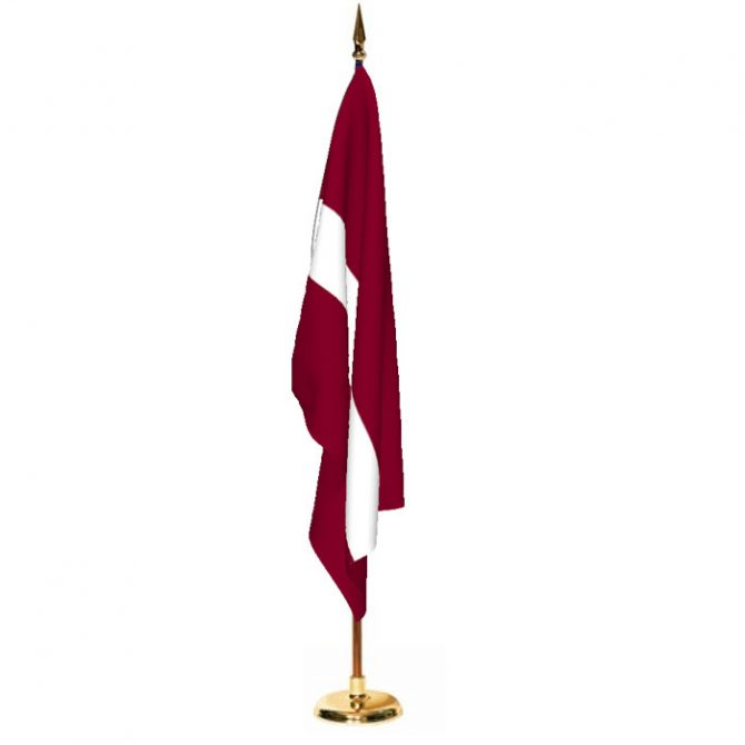 Indoor Latvia Ceremonial Flag Set