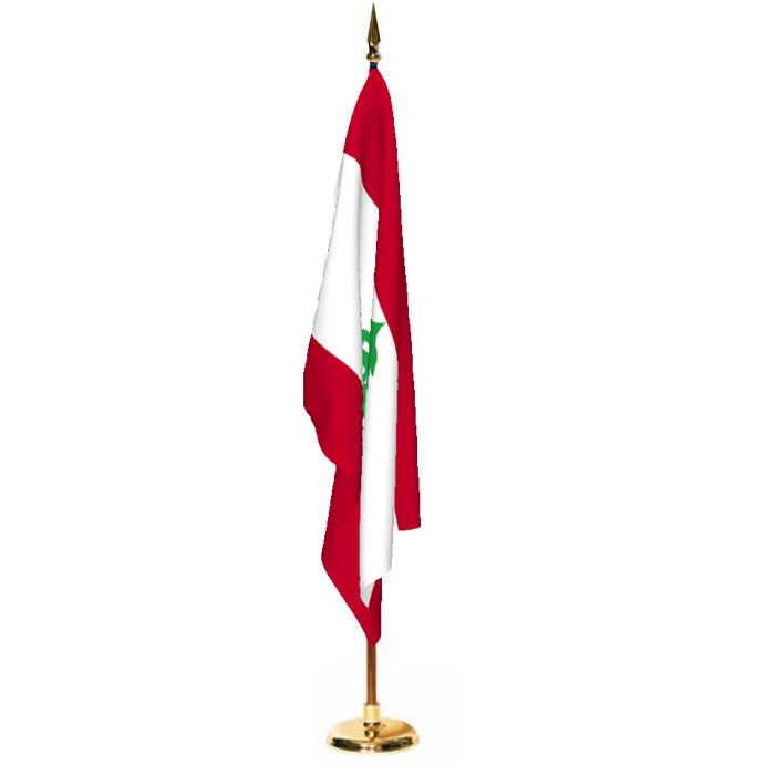 Indoor Lebanon Ceremonial Flag Set