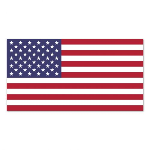 2-1/2in x 4in American Flag Left Hand Magnet