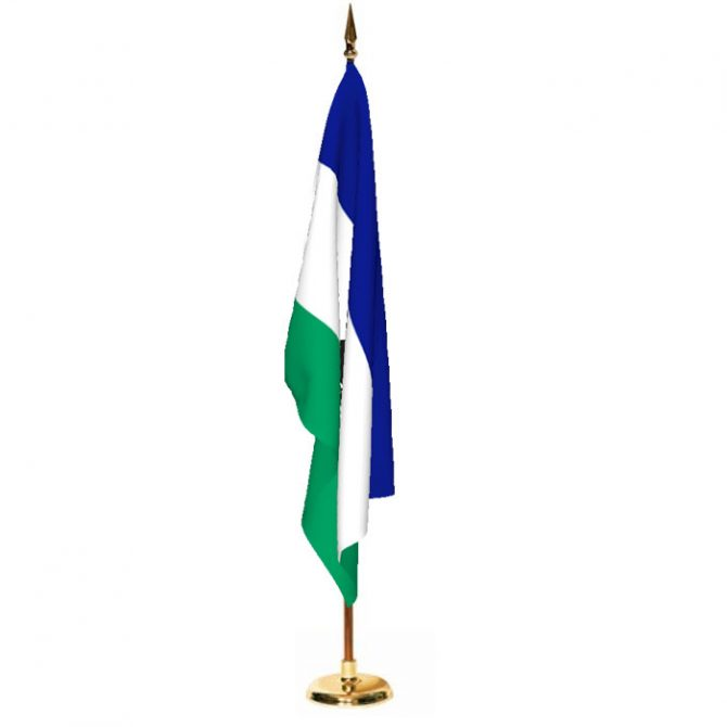 Indoor Lesotho Ceremonial Flag Set