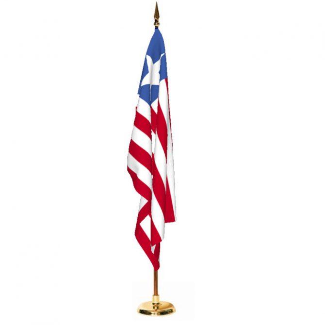 Indoor Liberia Ceremonial Flag Set