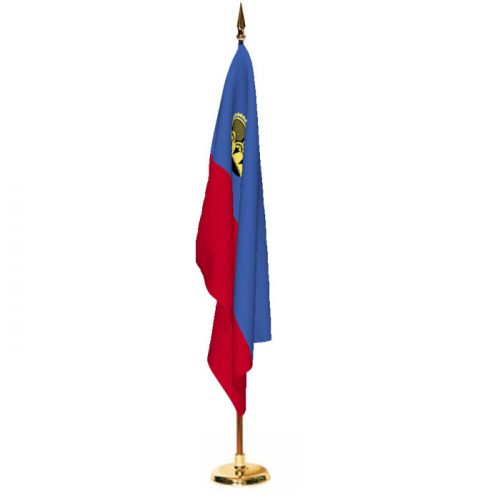 Indoor Liechtenstein Ceremonial Flag Set