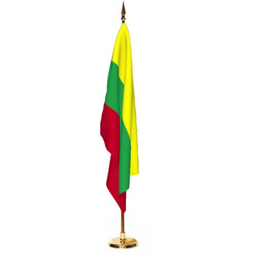 Indoor Lithuania Ceremonial Flag Set