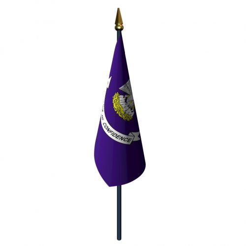 Louisiana Flag with Staff and Spear