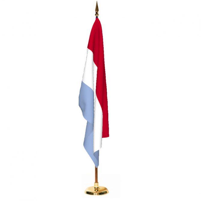 Indoor Luxembourg Ceremonial Flag Set