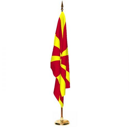 Indoor Macedonia Ceremonial Flag Set