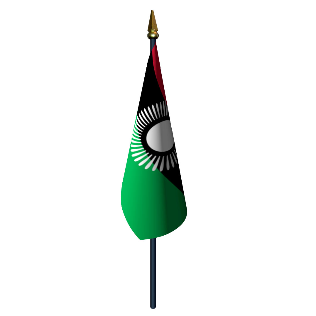 Bunting Wall Stickers 4in X 6in Malawi Flag With Staff And Spear Flags