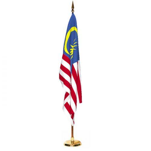 Indoor Malaysia Ceremonial Flag Set