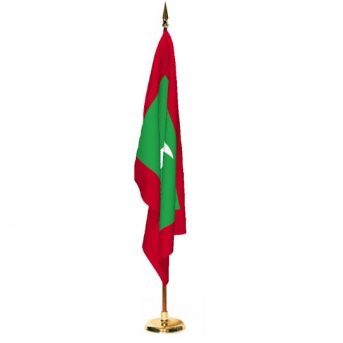 Indoor Maldives Ceremonial Flag Set