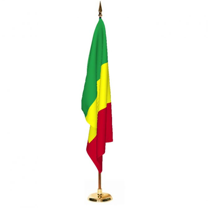 Indoor Mali Ceremonial Flag Set