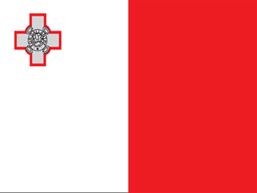 4in x 6in Malta Flag with Staff and Spear