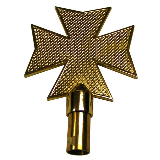 Aluminum Maltese Cross Finial