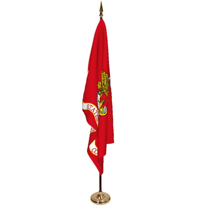 Indoor Marine Corps Ceremonial Flag Set