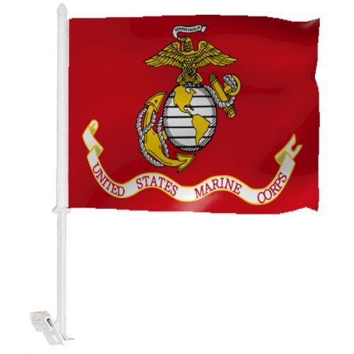 Marine Corps Car Window Flag