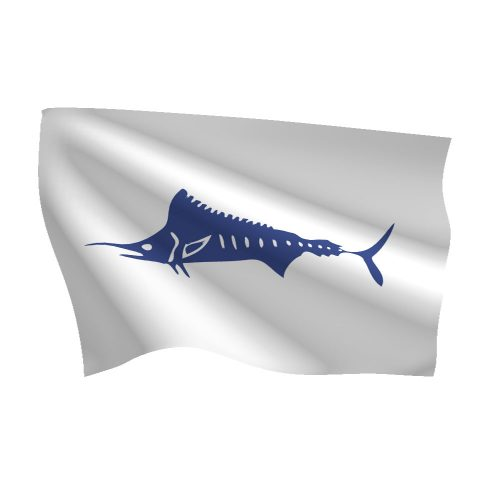 12in x 18in Marlin Flag