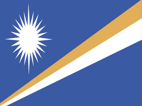 4in x 6in Marshall Islands Flag with Staff and Spear