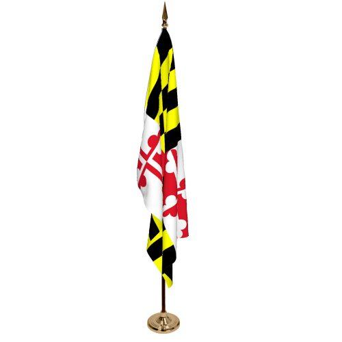 Indoor Maryland Ceremonial Flag Set