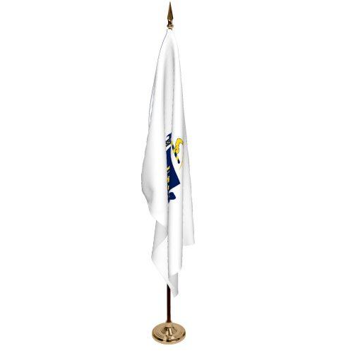 Indoor Massachusetts Ceremonial Flag Set