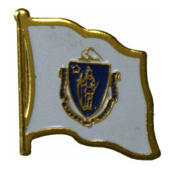 Massachusetts Flag Lapel Pin