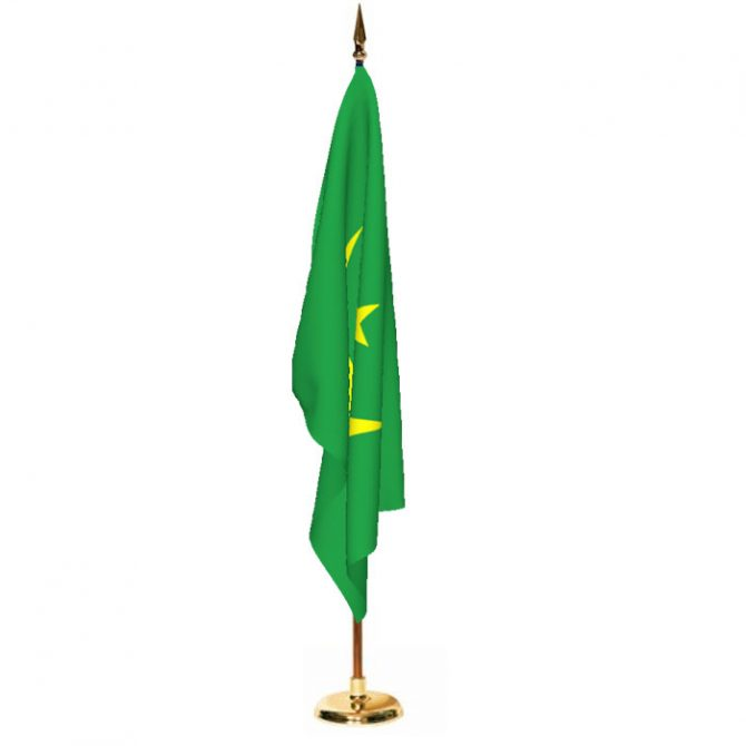 Indoor Mauritania Ceremonial Flag Set