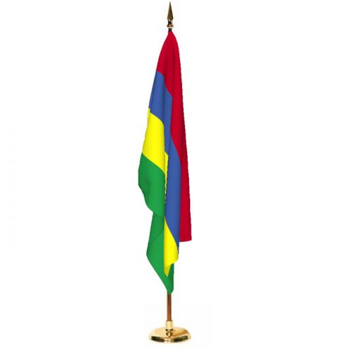 Indoor Mauritius Ceremonial Flag Set