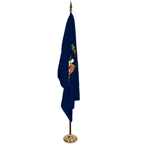 Indoor Merchant Marine Ceremonial Flag Set