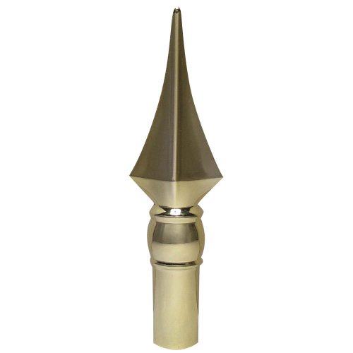 Aluminum Gold Fancy Spear Finial