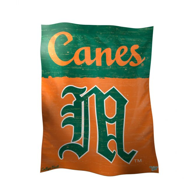 University of Miami Polyester Banner