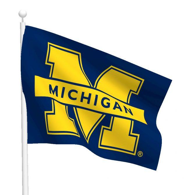 Michigan University Polyester Flag