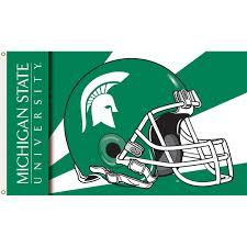 michigan state university polyester helmet flag