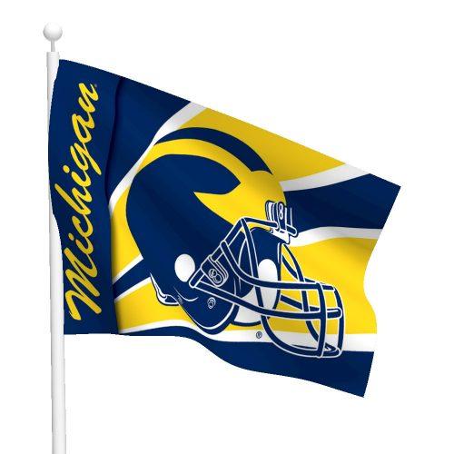 University of Michigan Polyester Helmet Flag