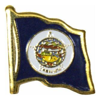 Minnesota Flag Lapel Pin
