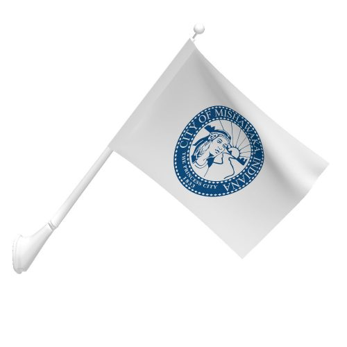 3ft x 5ft City of Mishawaka Flag with Pole Sleeve
