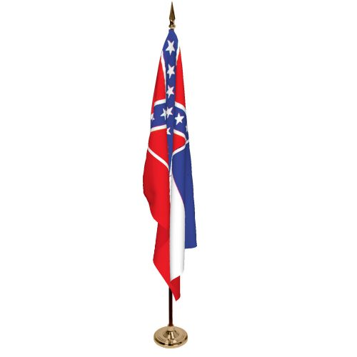 Indoor Mississippi Ceremonial Flag Set