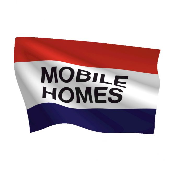 3ft x 5ft Mobile Homes Message Flag