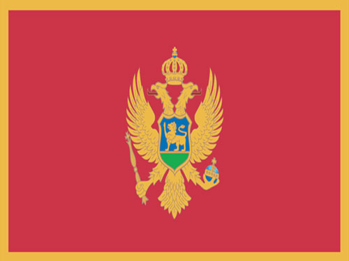 4in x 6in Montenegro Flag with Staff and Spear