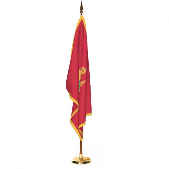 Indoor Montenegro Ceremonial Flag Set