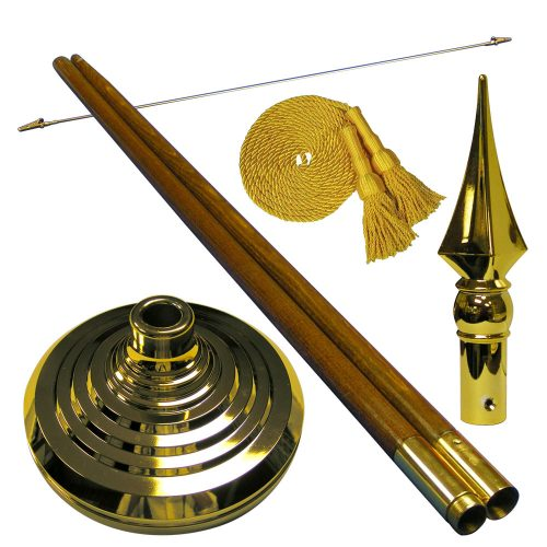 3ft x 5ft Ceremonial Flag Mounting Set