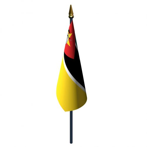 4in x 6in Mozambique Flag with Staff and Spear
