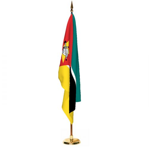 Indoor Mozambique Ceremonial Flag Set
