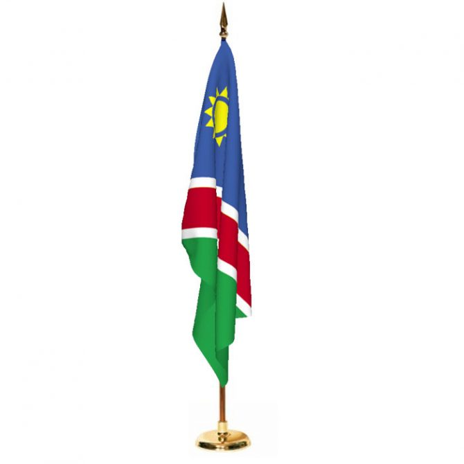 Indoor Namibia Ceremonial Flag Set