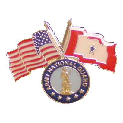 America, Service Star and Army National Guard Flag Lapel Pin