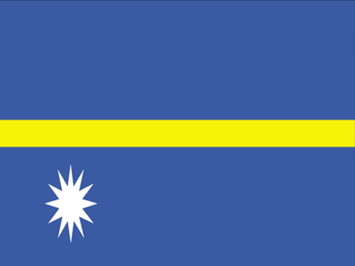 4in x 6in Nauru Flag with Staff and Spear