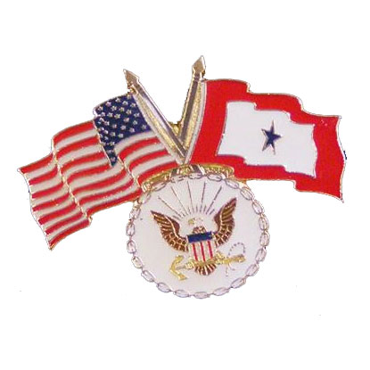 America, Service Star and Navy Flag Lapel Pin