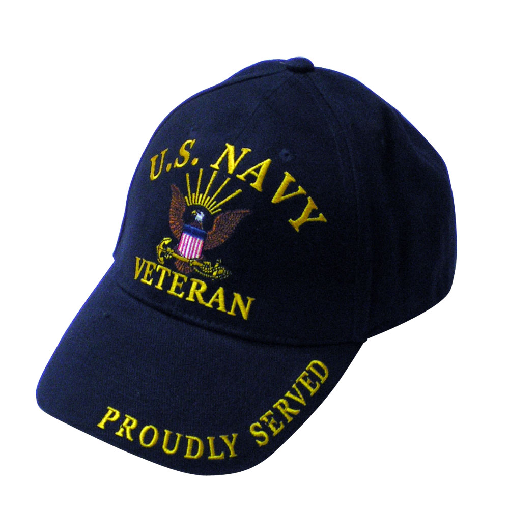44c6601e6 Navy Veteran Embroidered Hat