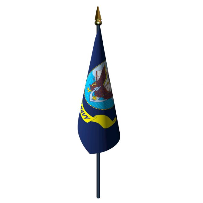 Navy Flag with Staff and Spear