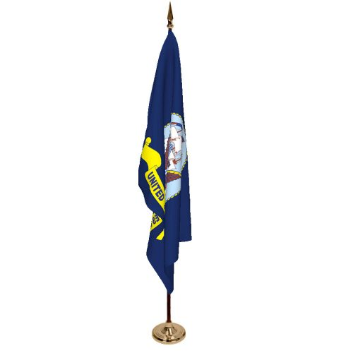 Indoor Navy Ceremonial Flag Set