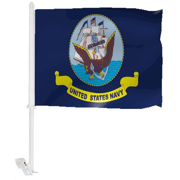 Navy Car Window Flag